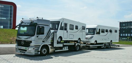 Vehicle transportation for Hymer GmbH & Co. KG